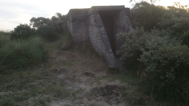 An old bunker, presumably WWII era.