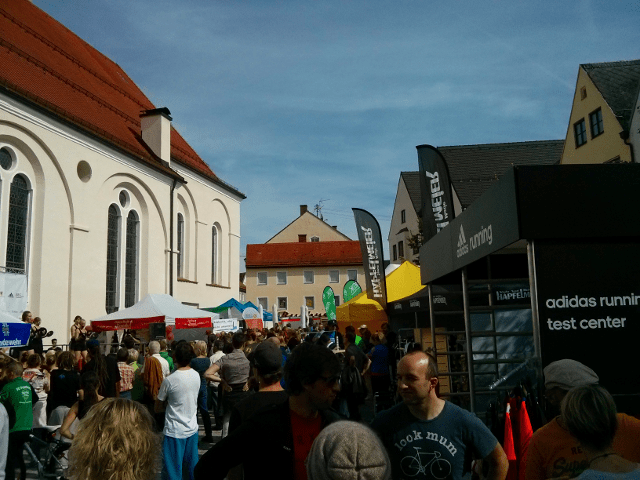 Outdoor expo at the Hapfelmeier Laufcup
